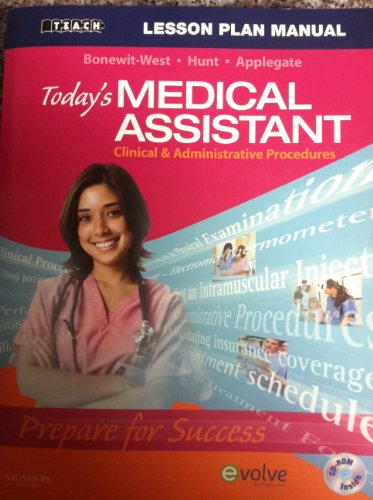 9781416056959: Today's Medical Assistant Lesson Plan Manual (Teach)