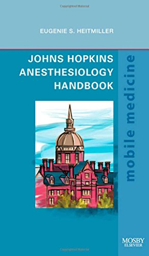 9781416059165: Johns Hopkins Anesthesiology Handbook: Mobile Medicine Series