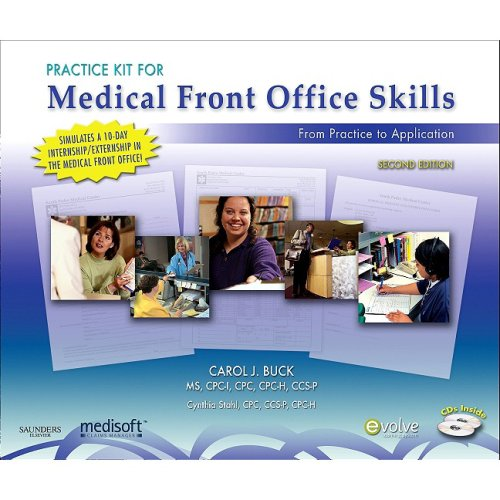 9781416061632: Practice Kit for Medical Front Office Skills with Medisoft Version 14