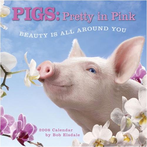 Pigs: Pretty In Pink 2008 Wall Calendar (1416214046) by Bob Elsdale