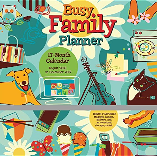 Busy Family Planner 2017 Wall Planner Calendar