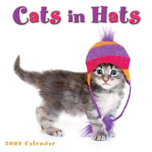 9781416280132: Cats in Hats 2009 Wall Calendar (Calendar)