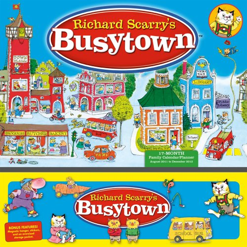 9781416287551: Richard Scarry's Busytown 17-Month Family Calendar/Planner