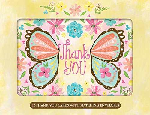 9781416292227: Butterfly Wings Thank You Cards [With 12 Envelopes]