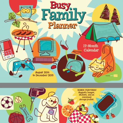 9781416295990: Busy Family 2015 Wall Planner