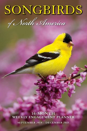 9781416296331: Songbirds of North America 2015 Weekly Engagement Calendar