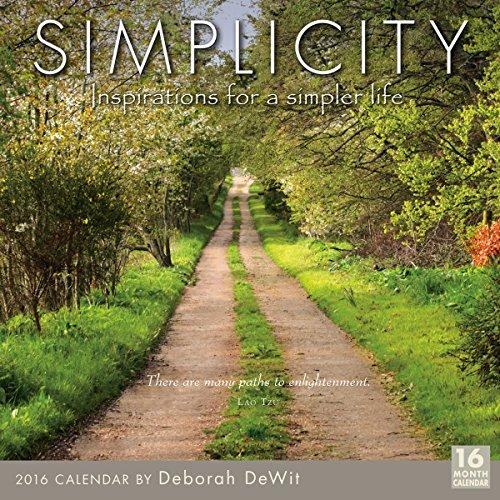 9781416297659: Simplicity 2016 Calendar: Inspirations for a Simpler Life