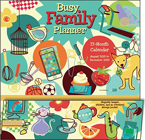 9781416298120: Busy Family Planner 17 Month 2016 Calendar