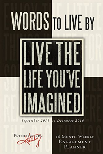 9781416298588: Words to Live by September 2015 to Decemeber 2016 Weekly Engagement Planner