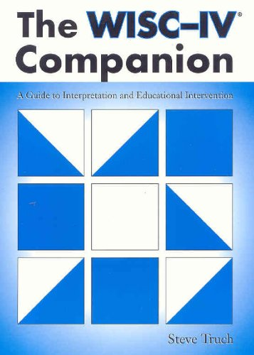 9781416400660: The Wisc-IV Companion: A Guide to Interpretation And Educational Intervention