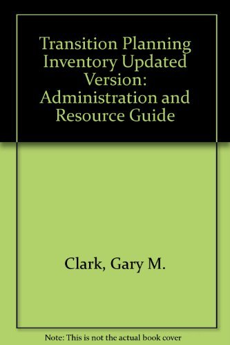 9781416401339: Transition Planning Inventory Updated Version: Administration and Resource Guide