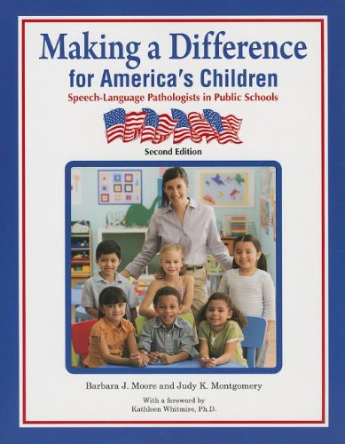9781416404187: Making a Difference for America's Children: Speech-language Pathologists in Public Schools