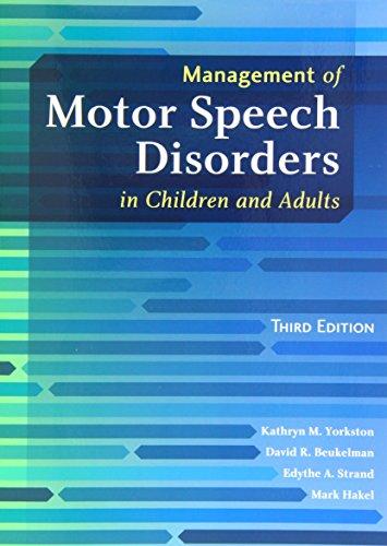 Management of Motor Speech Disorders in Children