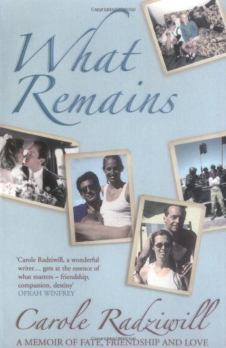 9781416521976: What Remains: A Memoir of Fate, Friendship and Love