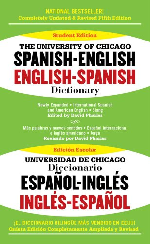 9781416533290: The University of Chicago Spanish-English English-Spanish Dictionary Edition: fifth