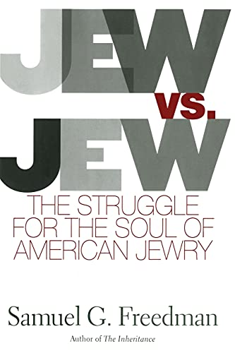 9781416578000: Jew Vs Jew: The Struggle For The Soul Of American Jewry