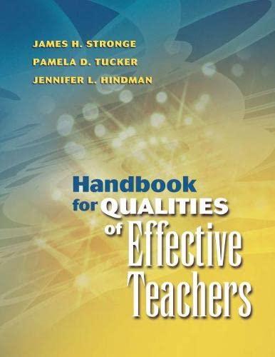 9781416600107: Handbook For Qualities Of Effective Teachers