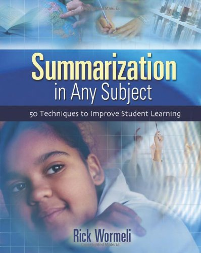 9781416600190: Summarization In Any Subject: 50 Techniques To Improve Student Learning
