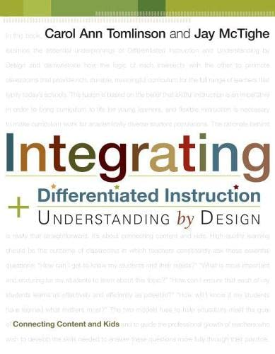 9781416602842: Integrating Differentiated Instruction & Understanding by Design: Connecting Content and Kids