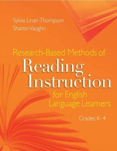 9781416605775: Research-based Methods of Reading Instruction for English Language Learners, Grades K-4