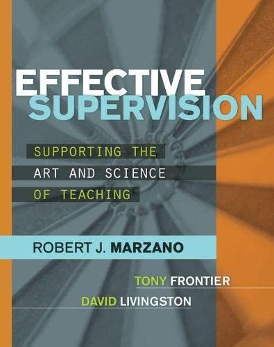 Effective Supervision: Robert J. Marzano,