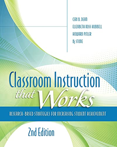 9781416613626: Classroom Instruction That Works: Research-Based Strategies for Increasing Student Achievement