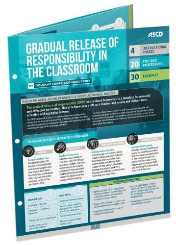 Gradual Release of Responsibility in the Classroom: Quick Reference Guide - 25 Pack (Hardcover): ...