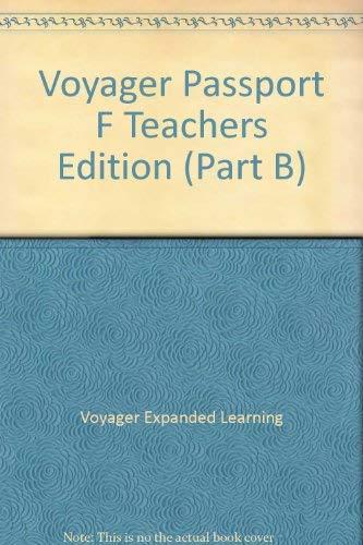 9781416806479: Voyager Passport F Teachers Edition (Part B)