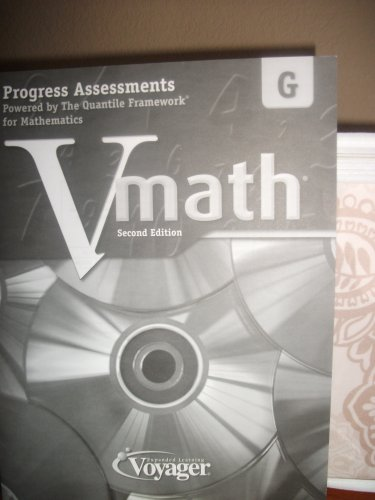 Vmath Level G 2nd Ed. Progress Assessments Powered By the Quantile Framework for Mathematics (2ND ...