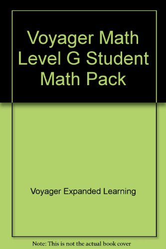 Voyager Math Level G Student Math Pack: Voyager Expanded Learning
