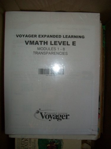 9781416861850: Voyager Expanded Learning VMath Level E Modules 1-8 Transparencies