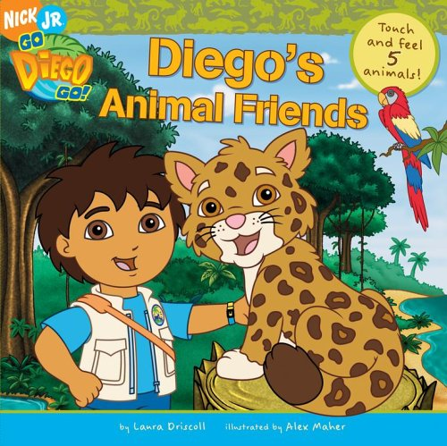 9781416917915: Diego's Animal Friends Touch & Feel 5 Animals (Go, Diego, Go)