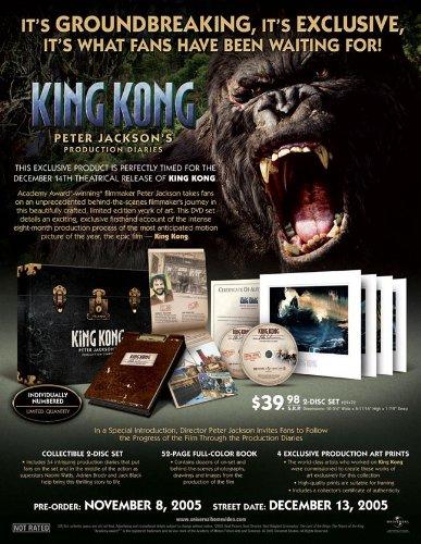 9781417075973: King Kong: Peter Jackson's Production Diaries [Reino Unido] [DVD]