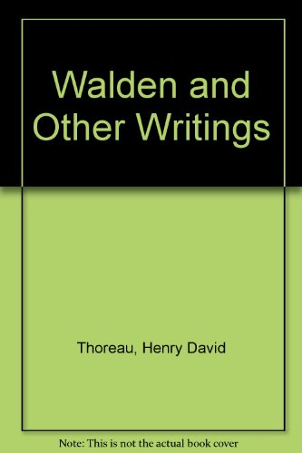 9781417739363: Walden and Other Writings