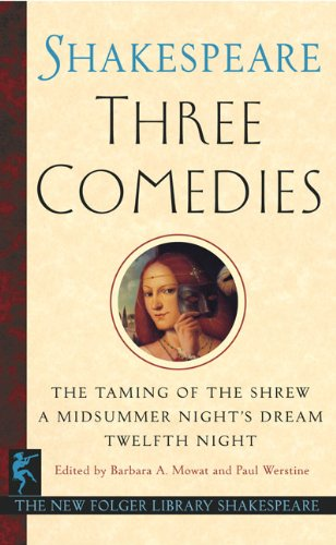9781417782468: Three Comedies (Turtleback School & Library Binding Edition) (New Folger Library Shakespeare (Pb))