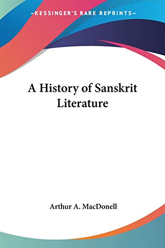 9781417906192: A History of Sanskrit Literature