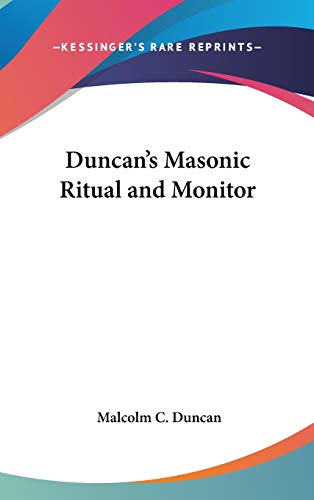9781417911134: Duncan's Masonic Ritual and Monitor