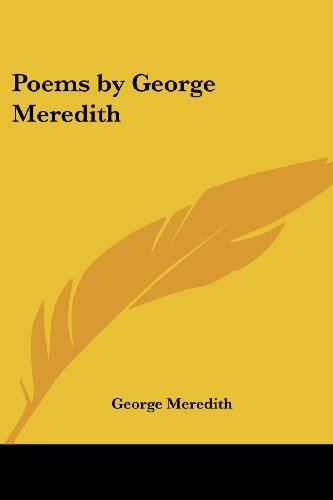 9781417930692: Poems by George Meredith