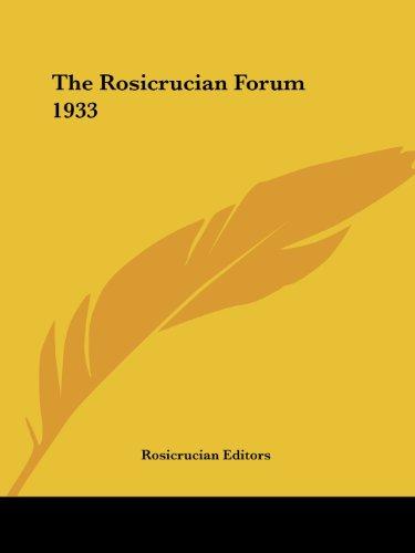 9781417940301: The Rosicrucian Forum 1933
