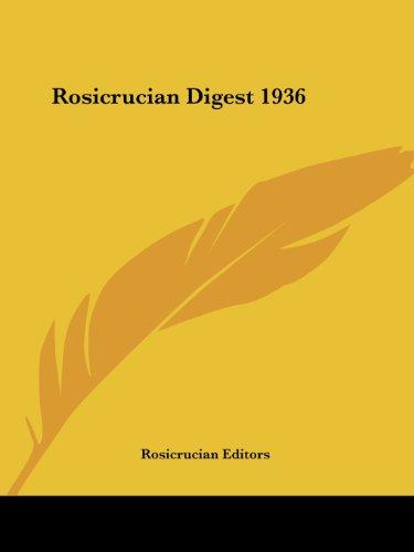 9781417940677: Rosicrucian Digest 1936