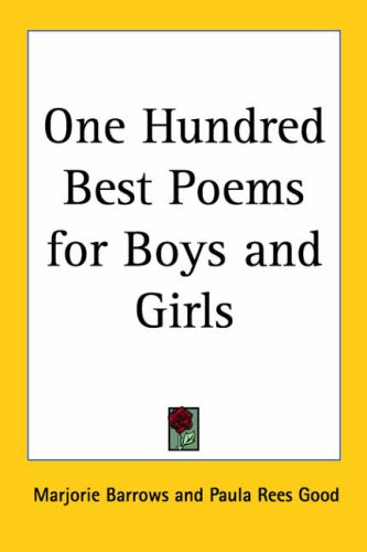 9781417942022: One Hundred Best Poems For Boys And Girls