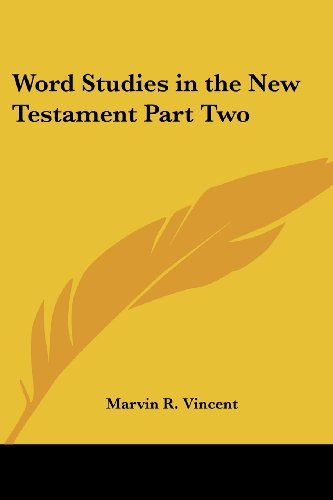 9781417942534: Word Studies in the New Testament