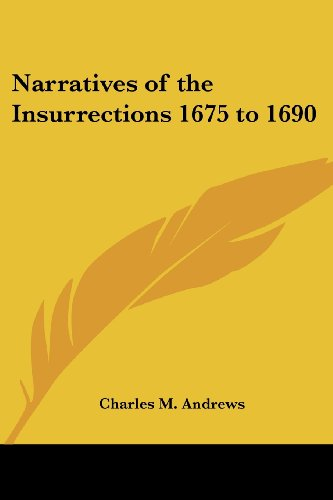 9781417946327: Narratives of the Insurrections 1675 to 1690