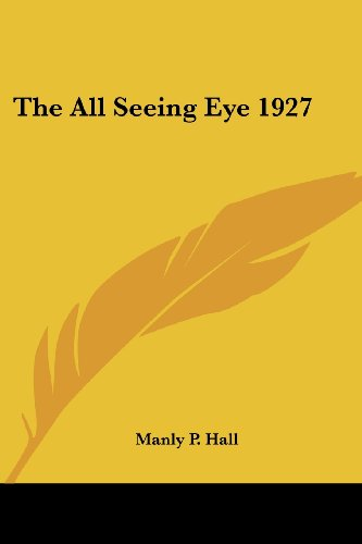 9781417950195: The All Seeing Eye 1927