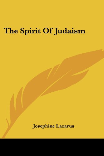 9781417963744: The Spirit Of Judaism