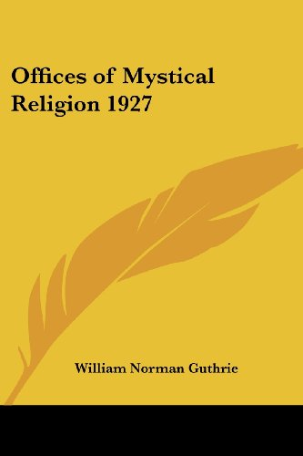9781417978922: Offices of Mystical Religion 1927