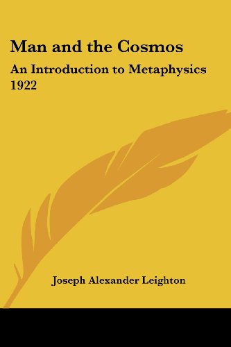 9781417979707: Man and the Cosmos: An Introduction to Metaphysics 1922