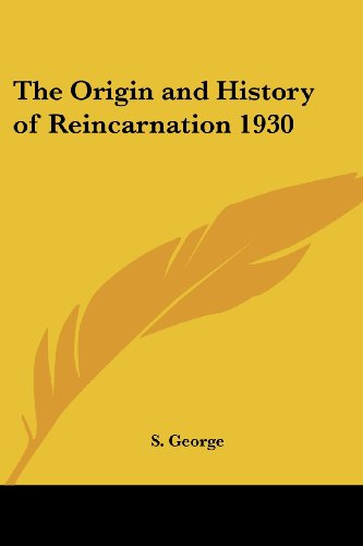 9781417981496: The Origin and History of Reincarnation 1930