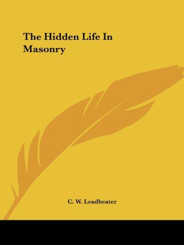 9781417984336: The Hidden Life In Masonry