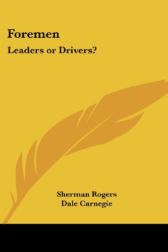 9781417989881: Foremen: Leaders or Drivers?